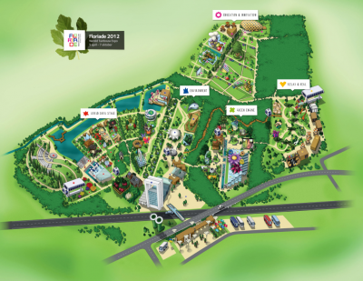 Floriade Expo 2012 Venlo Site map