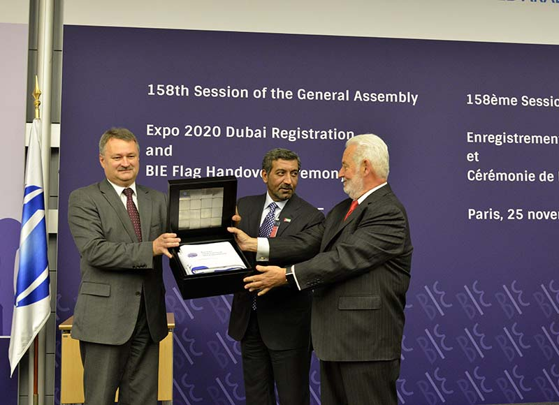 Dubai formally granted Expo 2020 at BIE General Assembly