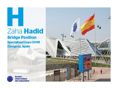 A to Z of Expo Architects: Zaha Hadid