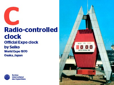 A to Z of Innovations at Expos: Radio-controlled clock