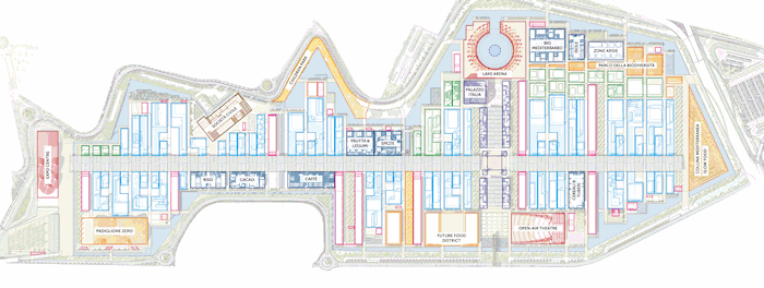Plan of Expo Milan 2015